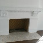 herringbone fireplace